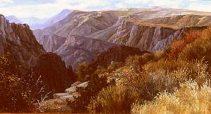 Black Canyon landscape painting